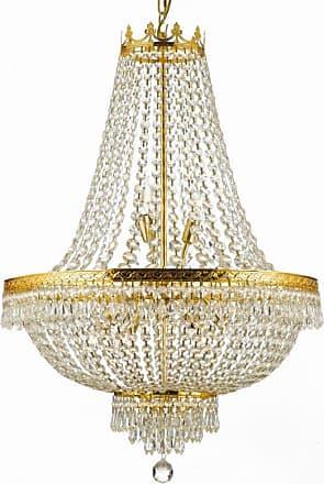 Gallery 870-9 9 Light 1 Tier Empire 9 Light Chandelier Gold Indoor
