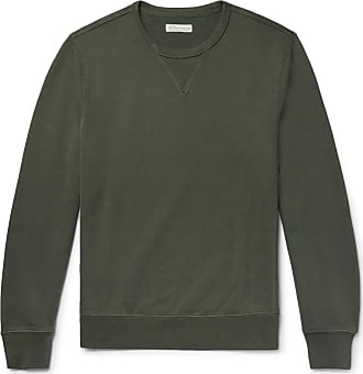 J.crew Loopback Cotton-jersey Sweatshirt - Dark green