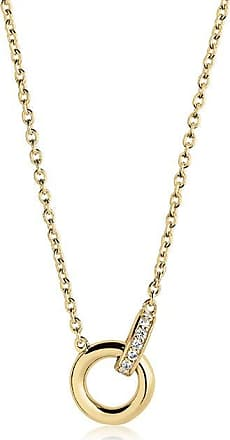 Sif Jakobs Jewellery Necklace Itri piccolo - 18k gold plated with white zirconia