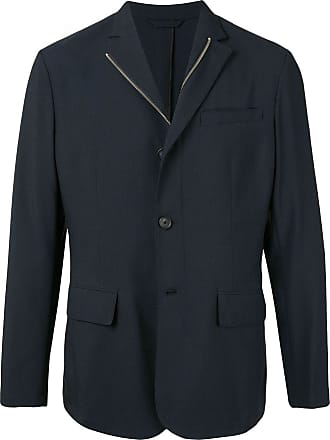 Durban long sleeve zipped blazer - Azul