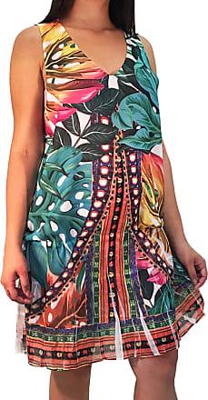 101 Resort Wear Vestido 101 Resort Wear Estampado Folhas