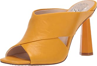 Vince Camuto Womens Averessa High Heel Sandal Mule, Golden Mustard, 3.5 UK