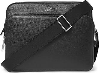 505d3d86787 HUGO BOSS Cross-grain Leather Messenger Bag - Black