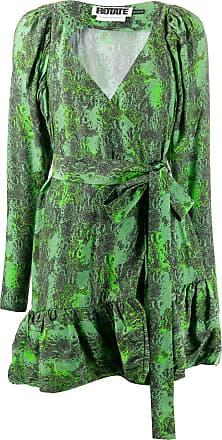 Rotate Vestido Nancy com estampa de cobra - Verde