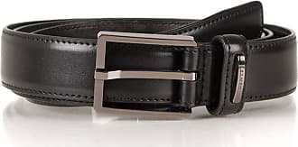 Dents Mens 30mm Classic Leather Synthetic Lined Belt Black M