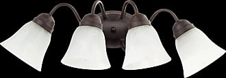 Quorum 4 Light Faux Alabaster Wall Mount in Toasted Sienna