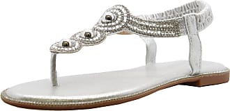 Saute Styles Ladies Womens Flat Diamante Summer Strap Party Comfy Toe Post Sandals Shoes Size 4