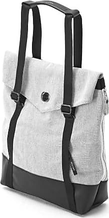 Qwstion Tote Raw Mischung Leder Canvas - Grey/Black