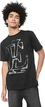 Fatal Surf Camiseta Fatal Lettering Preta