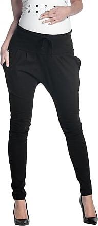 Zeta Ville Zeta Ville - Womens Maternity Pants Low Crotch Pockets Stretch Waistband - 583c (Black, UK 10, M)
