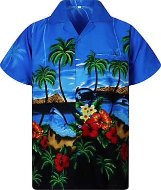 V.H.O. Funky Hawaiian Shirt, Dolphins, lightblue, XL