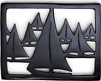 Old Dutch International 380MB Seven Seas Trivet, Matte Black