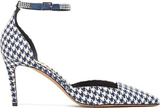 Alexandre Vauthier Cindy Houndstooth-print Crystal-embellished Pumps - Womens - Navy White