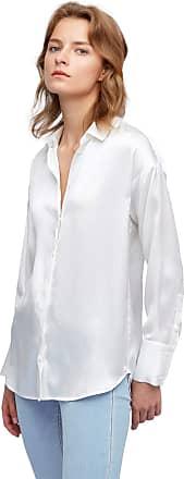 LilySilk 100% Mulberry Silk Blouse for Women Long Sleeve Chic Relaxed Silk Shirt XXL, White