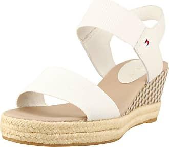c14df4f16 Tommy Hilfiger Iconic Elba Sandal Pop Color Womens Wedges Off White - 40 EU