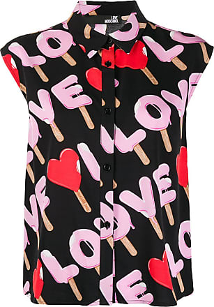 Love Moschino Camisa Ice Cream com logo - Preto