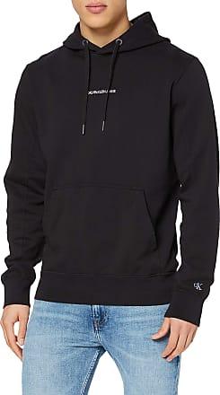 Calvin Klein Jeans Mens INSTIT Chest Logo REG Hoodie Sweatshirt, Black (Ck Black Bae), X-Small (Size:XS)