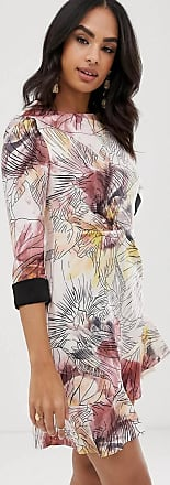 Little Mistress Geblümtes, asymmetrisches Hemdkleid-Mehrfarbig