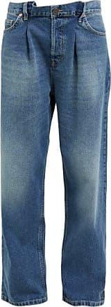 Raey Fold Dad Baggy Boyfriend Jeans - Womens - Dark Blue