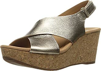 33500909a4b Metallic Wedge Sandals  35 Products   up to −20%