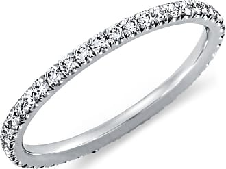 0d6d6b8a9c9a Blue Nile Tazza Pave Diamond Eternity Ring in 14k White Gold (3 8 ct