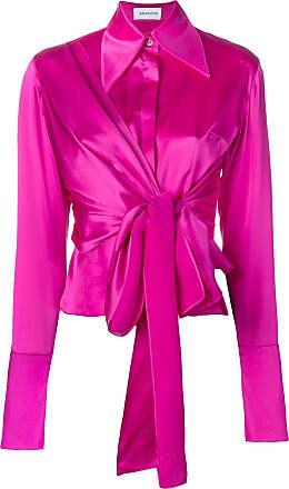 16Arlington Camisa de seda com detalhe de nó - Rosa