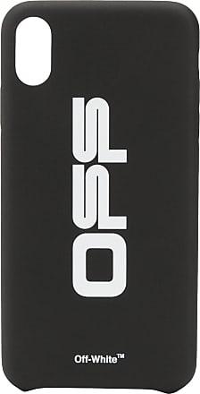 Off-white Capa iPhone XS Max com logo - Preto