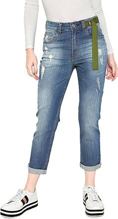 Oh, Boy! Calça Jeans OH BOY Boyfriend Tricot Cos Azul