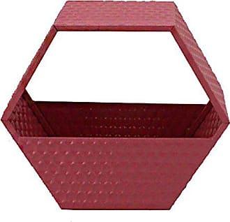 Sagebrook Home 10934 Metal Wall Basket, Pink Metal, 14 x 6.25 x 12 Inches