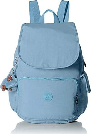 Kipling Womens City Pack Medium Backpack, Adjustable Backpack Straps, Zip Closure, blue beam tonal