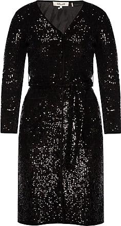 Diane Von Fürstenberg Sequined Dress Womens Black