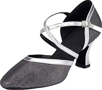 Insun Women Sparkly Dance Shoes Latin Ballroom Dancing Wedding Shoes Black 8cm Heel 2.5 UK