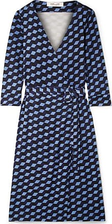 Diane Von Fürstenberg New Julian Printed Silk-jersey Wrap Dress - Blue