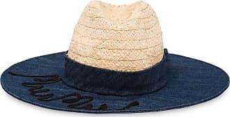 Miu Miu Cappello estivo con ricamo - Di colore blu
