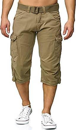 Herren Bermudas 7//8 Shorts Cargoshorts kariert 3//4 Hose Dehnbund Karo stretch