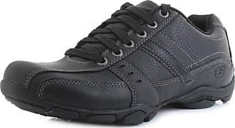 Skechers Marter-Life Changer Mens Casual Smart Leather Lace Up Memory Foam Shoes UK 10.5 / EU 45.5 Black