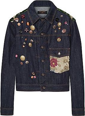 466f80402f Dolce & Gabbana Dolce & Gabbana Woman Appliquéd Denim Jacket Dark Denim ...