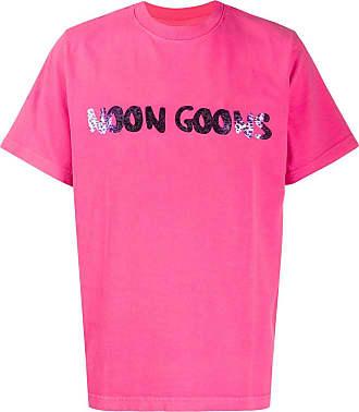 Noon Goons Camiseta Leopard com logo - Rosa