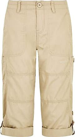 Weird Fish Salena 3/4 Length Trousers Alabaster Size 10 Beige