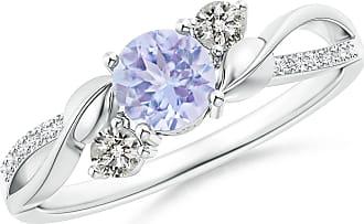 Angara Valentine Day Sale - Tanzanite and Diamond Twisted Vine Ring