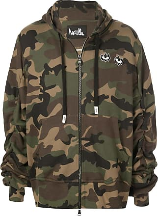 Haculla Never Duplicated camouflage hoodie - Green