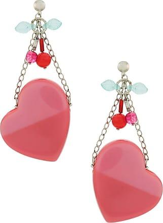 Amir Slama heart earrings - PINK