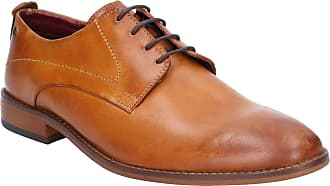 Base London Base Script Washed Mens Leather Material Formal Shoes Tan - 10 UK