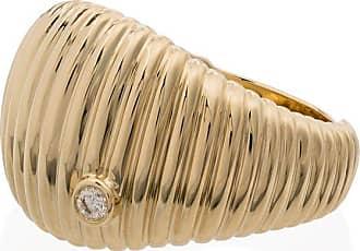 Yvonne Léon 9kt gold ridged diamond ring