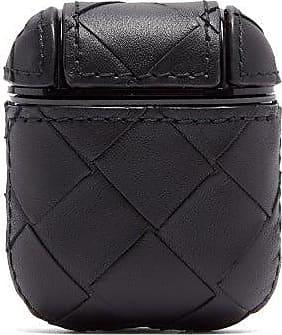 Bottega Veneta Intrecciato Leather Airpods Case - Womens - Black