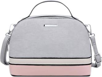 Girly HandBags Girly HandBags Womens Two Tone Grab Holder Bag - Grey