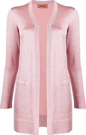 Missoni Cardigan longline metálico de tricô - Rosa
