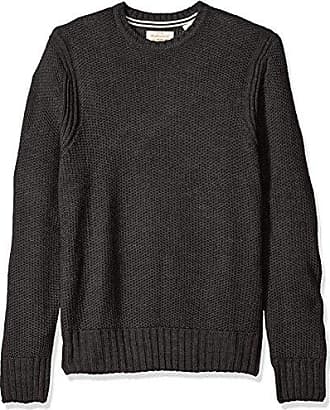 Weatherproof Vintage Mens Honeycomb Crew Sweater, Charcoal Heather, X-Large