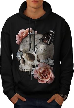 Ornament Casual Hooded Sweatshirt Wellcoda Flamigo Flower Womens Hoodie