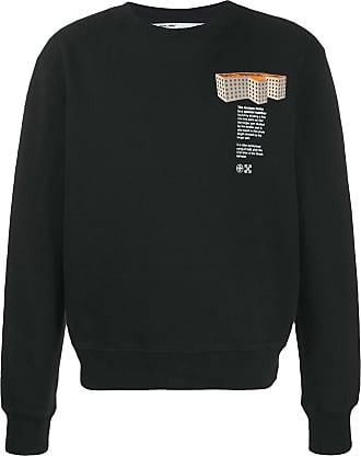 Off-white Sweatshirt mit Gebäude-Print - Schwarz